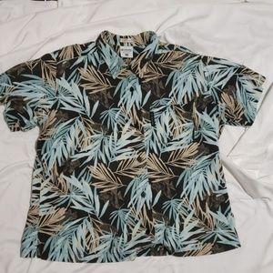 Columbia River Resort Hawaiian Floral Button Shirt